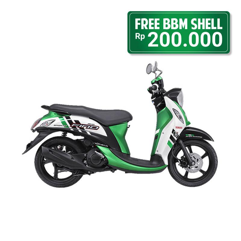 Yamaha Fino FI Sporty Stylish Green Bogor